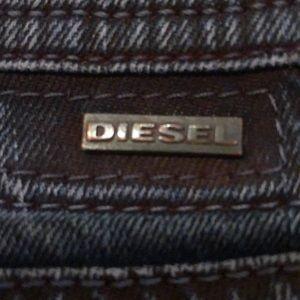DIESEL jeans,blue denim w red under-dye